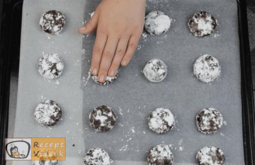 Pöfeteg keksz recept, pöfeteg keksz elkészítése 6. lépés