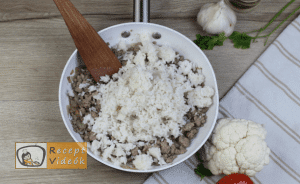 Rakott karfiol recept, rakott karfiol elkészítése 6. lépés