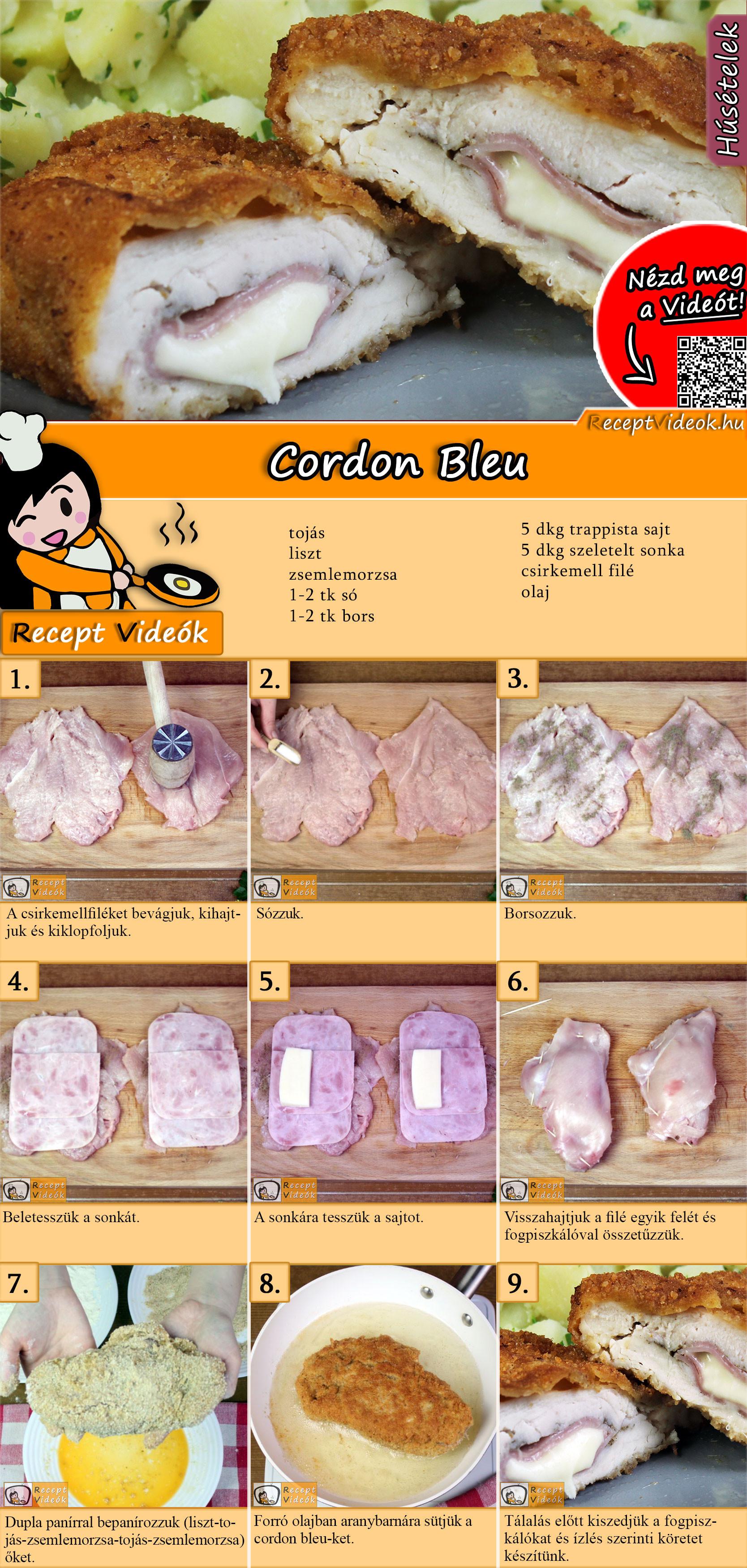 Cordon Bleu recept elkészítése videóval