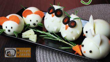 Húsvéti diy kreatív recept ötletek - kreatív tojásfalatok (egér,bagoly,nyuszi) - Recept Videók