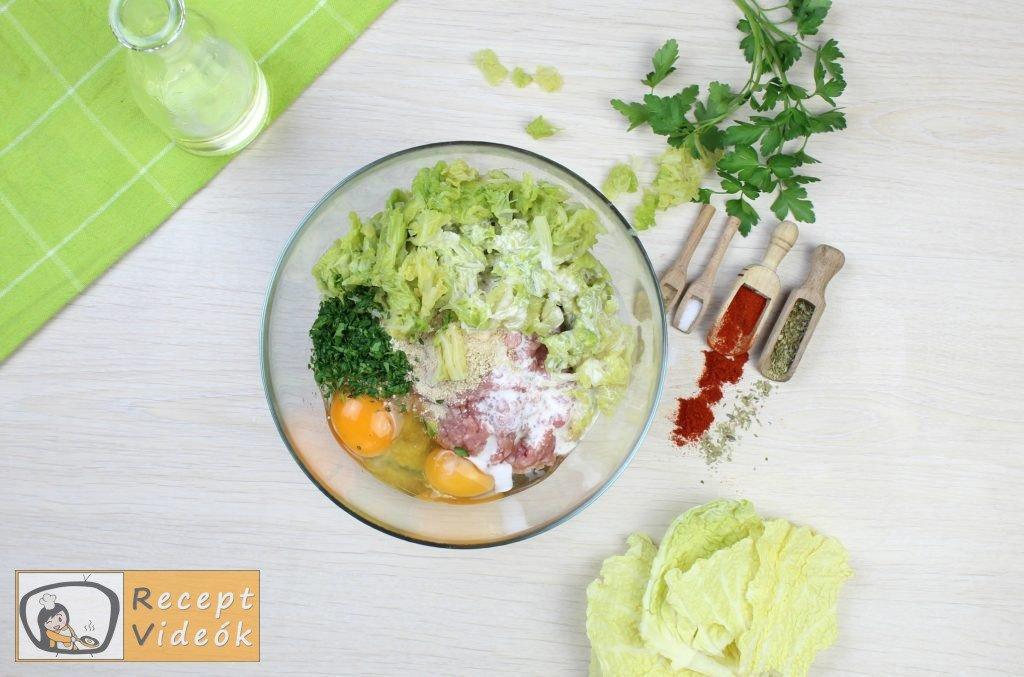 Kelkáposztás húsgombóc recept, kelkáposztás húsgombóc elkészítése 1. lépés