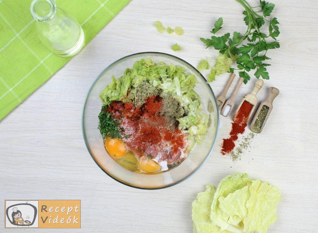 Kelkáposztás húsgombóc recept, kelkáposztás húsgombóc elkészítése 2. lépés