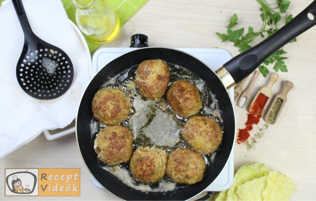 Kelkáposztás húsgombóc recept, kelkáposztás húsgombóc elkészítése 4. lépés