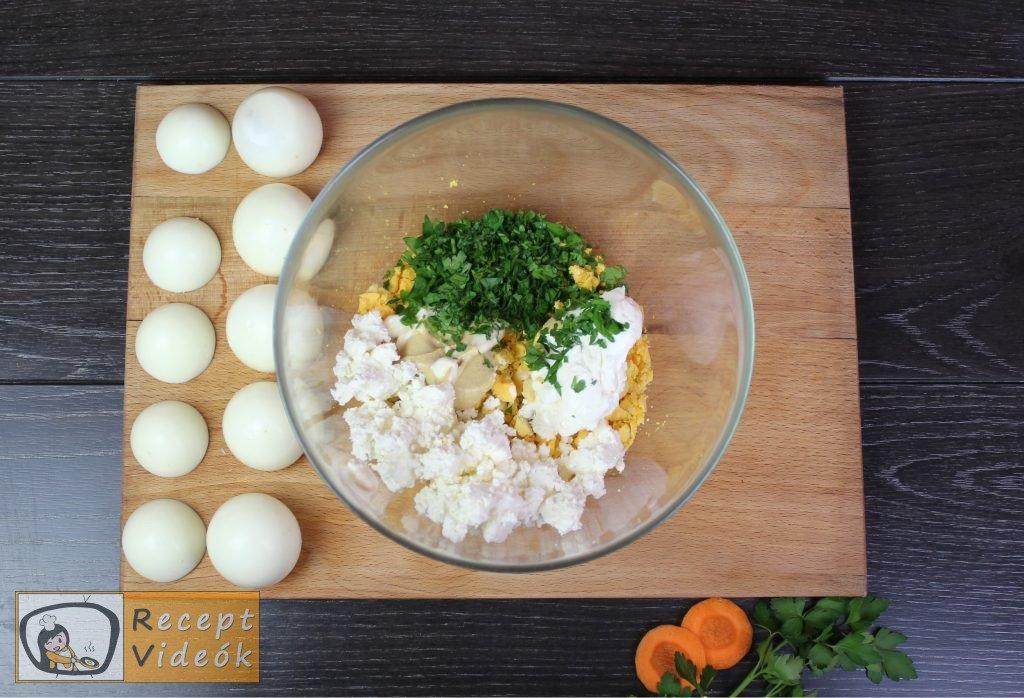Húsvéti diy kreatív recept ötletek - kreatív tojásfalatok (csibe, kakas) 2. lépés