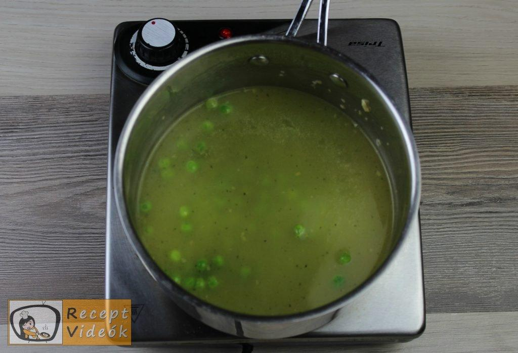 Zöldborsó krémleves recept, zöldborsó krémleves elkészítése 3. lépés