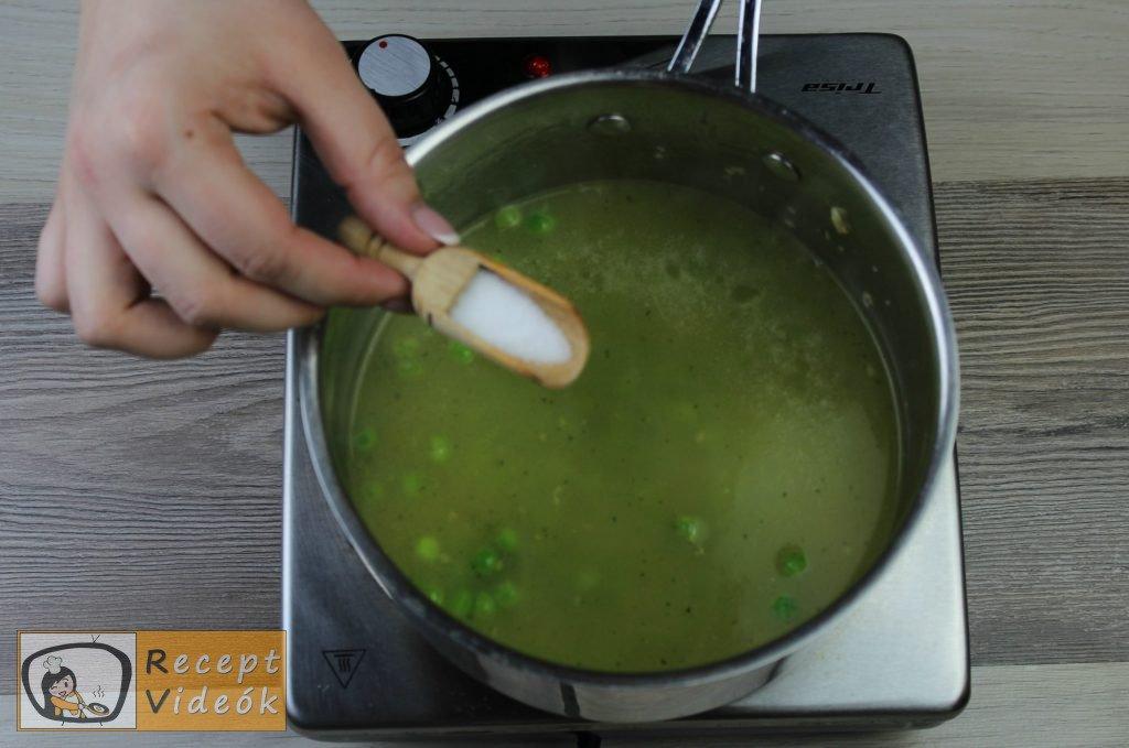Zöldborsó krémleves recept, zöldborsó krémleves elkészítése 5. lépés