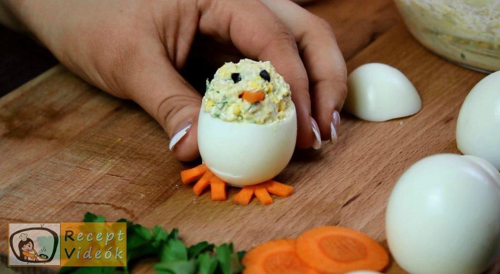 Húsvéti diy kreatív recept ötletek - kreatív tojásfalatok (csibe, kakas) 4. lépés