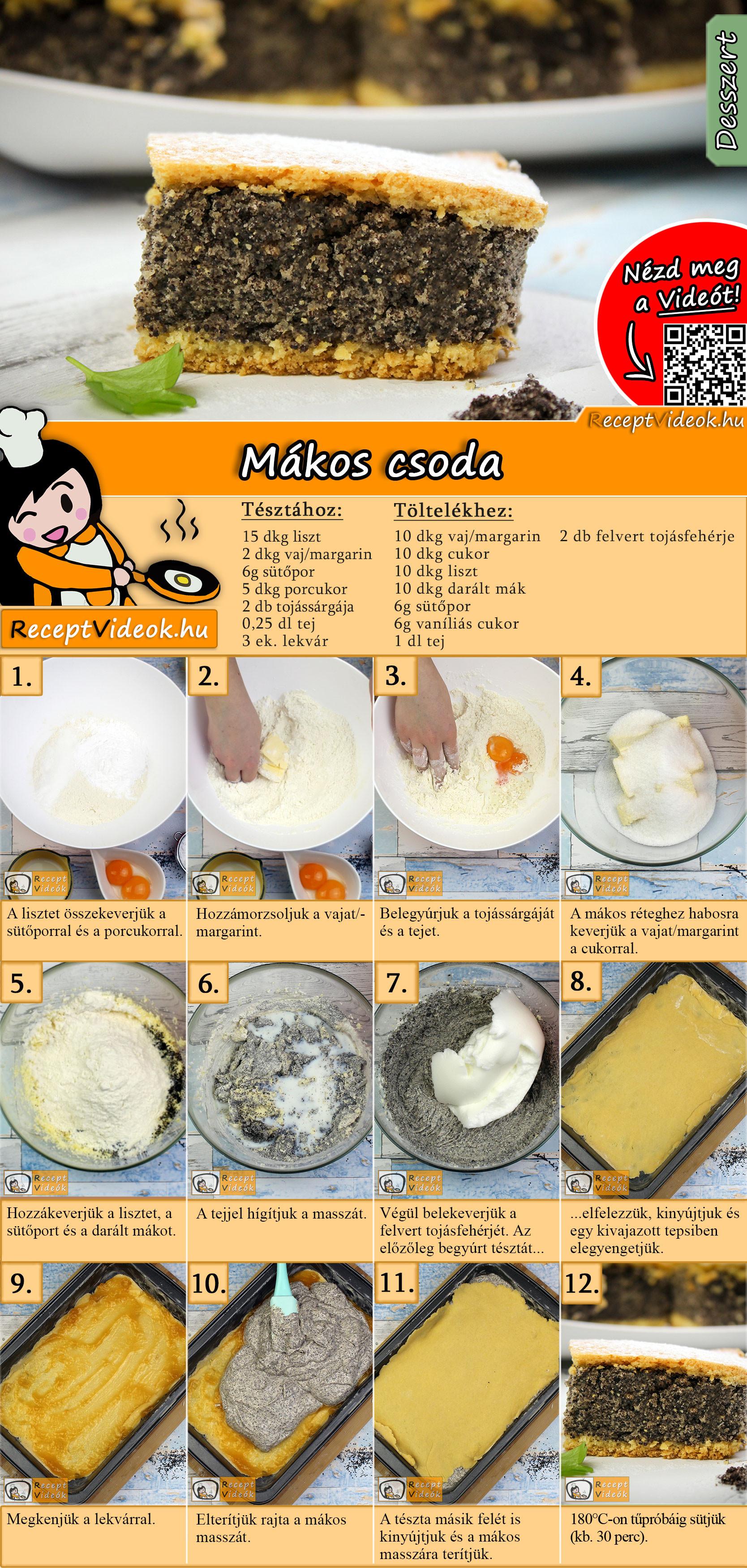Mákos csoda recept elkészítése videóval