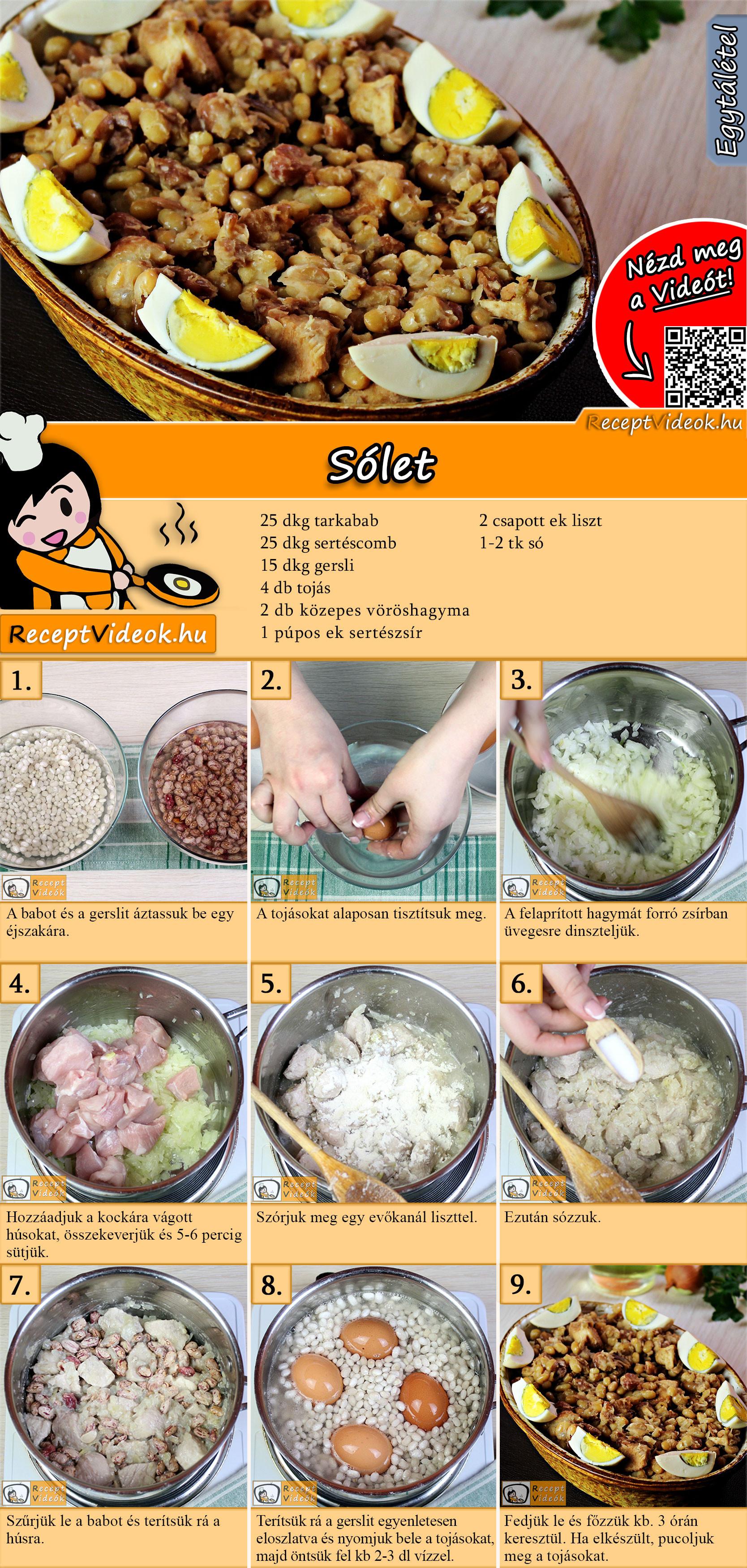Sólet recept elkészítése videóval