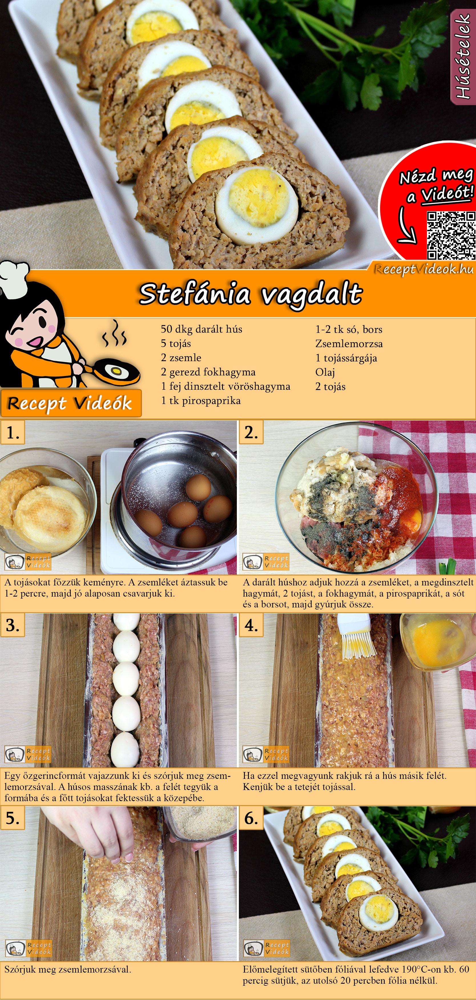 Stefánia vagdalt recept elkészítése videóval