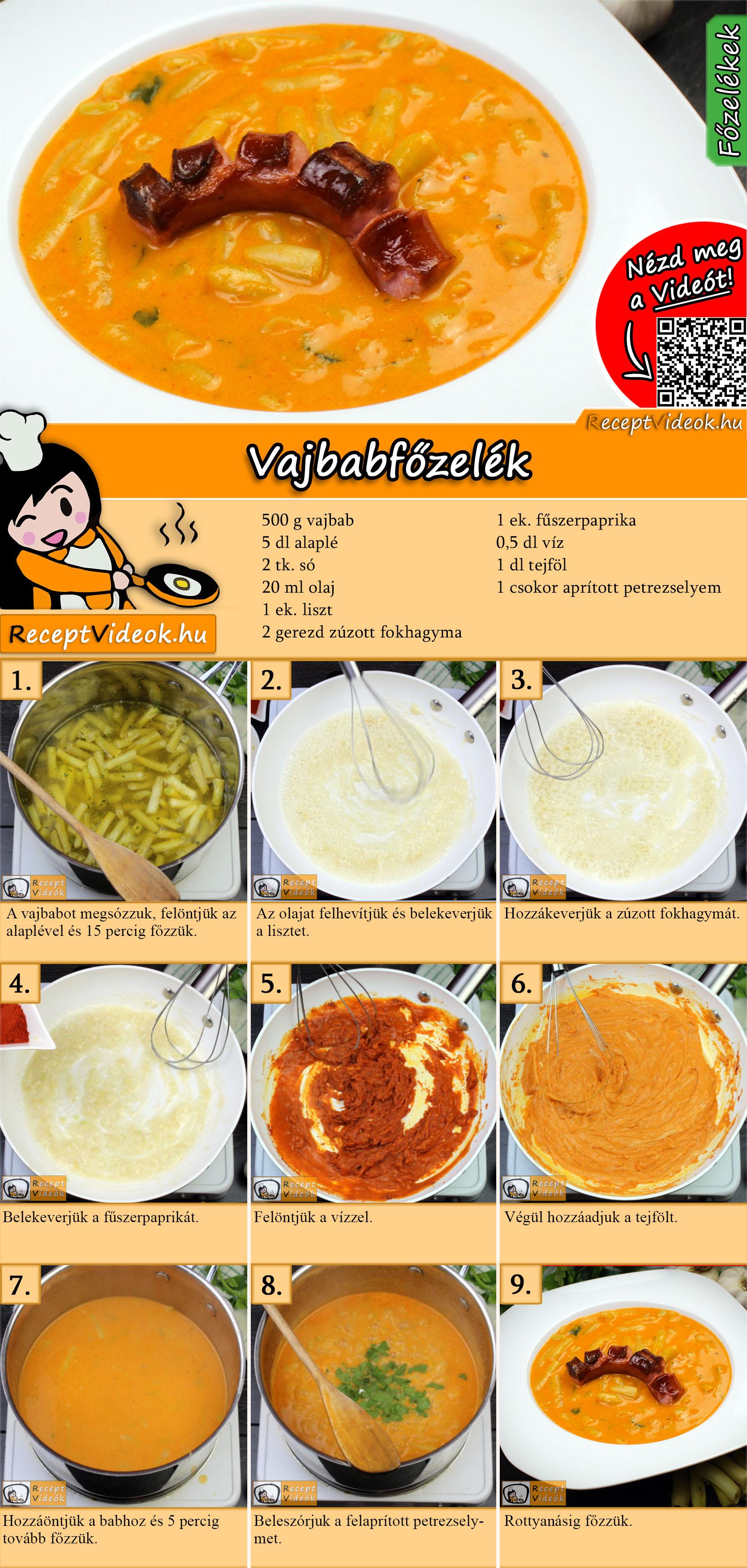 Vajbabfőzelék recept elkészítése videóval