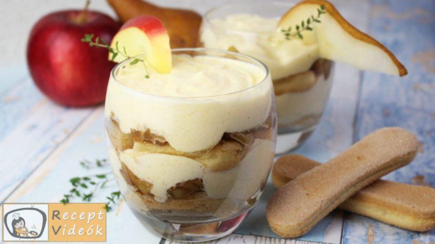 Almás-körtés tiramisu recept, almás-körtés tiramisu elkészítése - Recept Videók