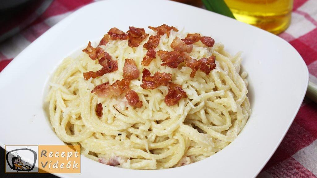 Baconös spagetti recept, baconös spagetti elkészítése - Recept Videók