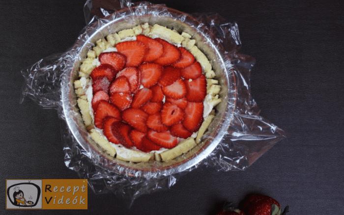 Epres-krémsajtos torta recept, epres-krémsajtos torta elkészítése 12. lépés