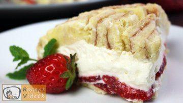 Epres-krémsajtos torta recept, epres-krémsajtos torta elkészítése - Recept Videók
