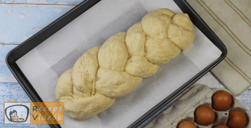Fonott kalács recept, fonott kalács elkészítése nyolcadik lépés