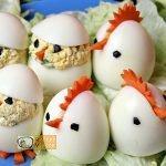 Húsvéti diy kreatív recept ötletek - kreatív tojásfalatok (csibe, kakas) - Recept Videók