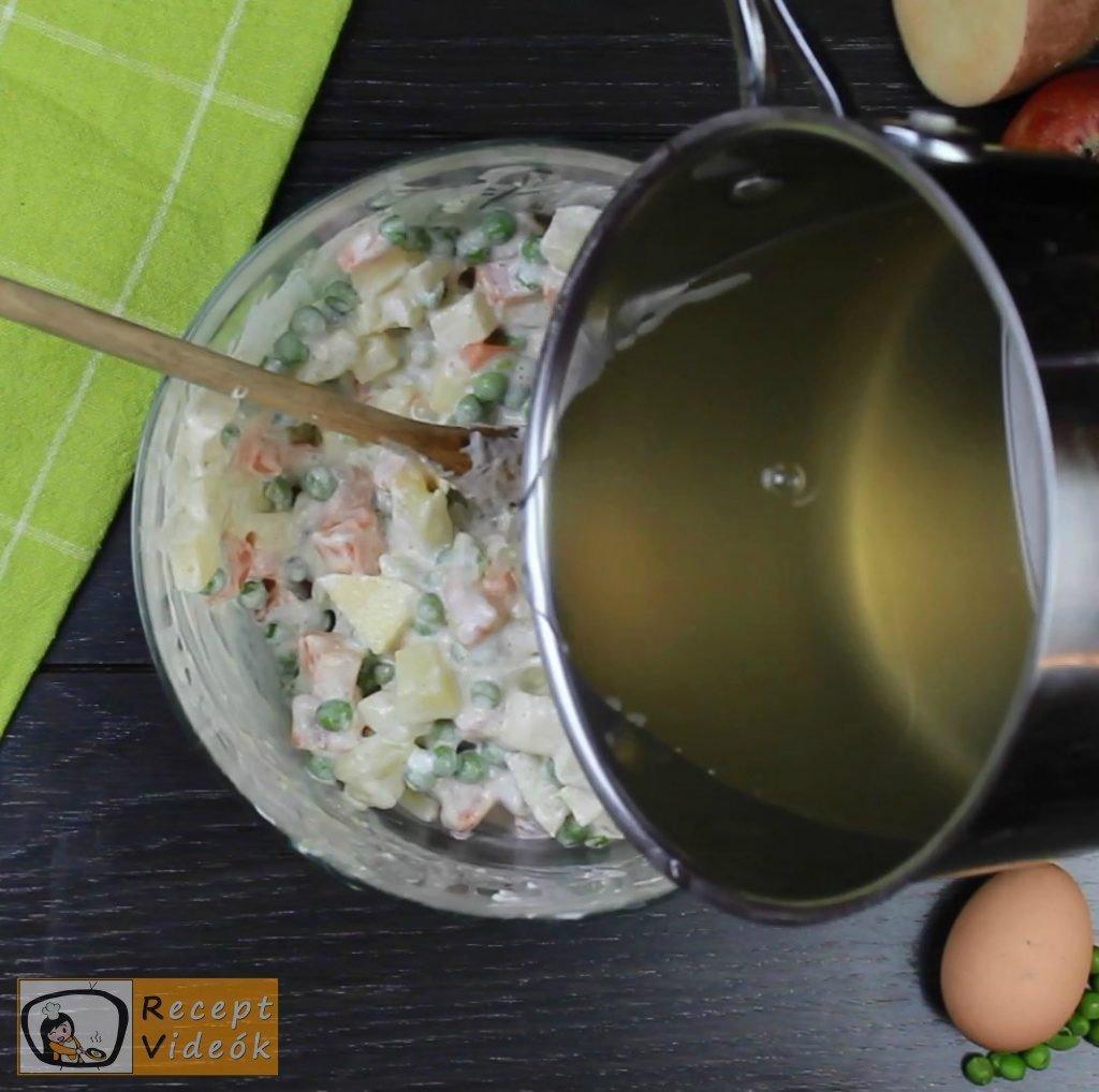 Dermesztett majonézes saláta recept elkészítése 5. lépés