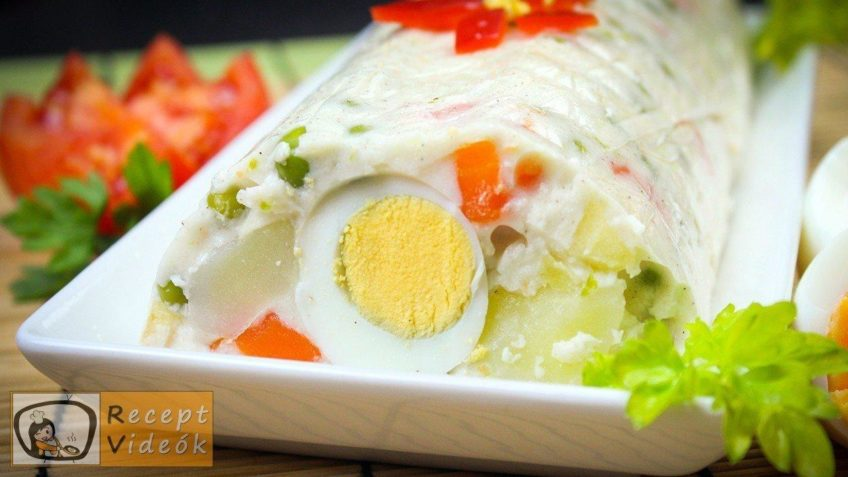 Majonézes saláta formában dermesztve
