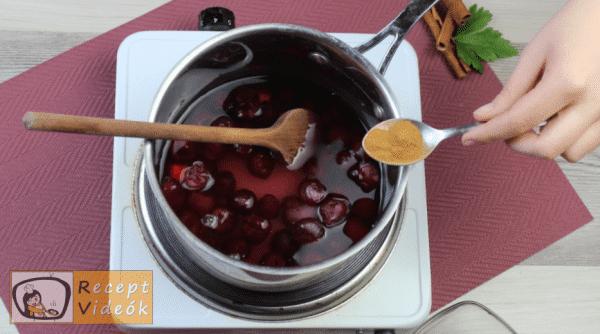 Meggyszósz (meggymártás) recept, meggyszósz (meggymártás) elkészítése 4. lépés