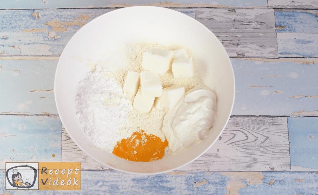 Mimóza szelet recept, mimóza szelet elkészítése 1. lépés