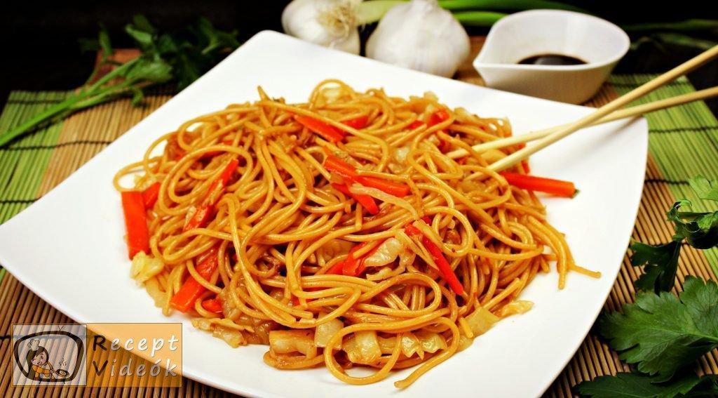 Kínai zöldséges tészta recept, kínai zöldséges tészta elkészítése - Recept Videók