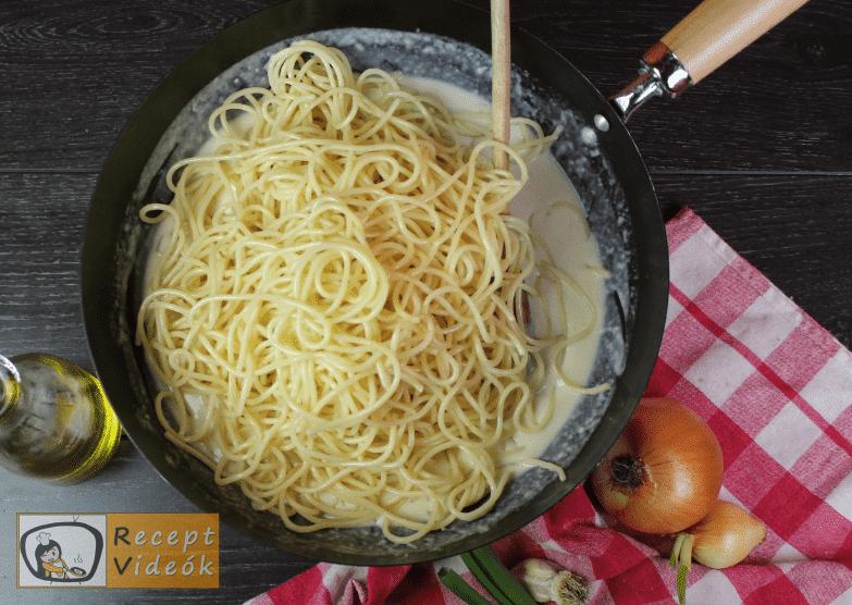 Baconös spagetti recept, baconös spagetti elkészítése 9. lépés