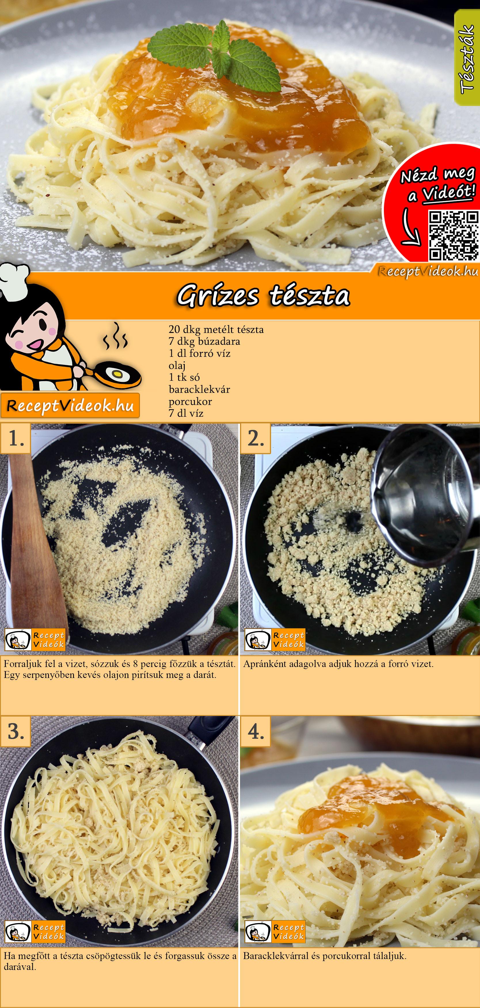 Grízes tészta recept elkészítése videóval