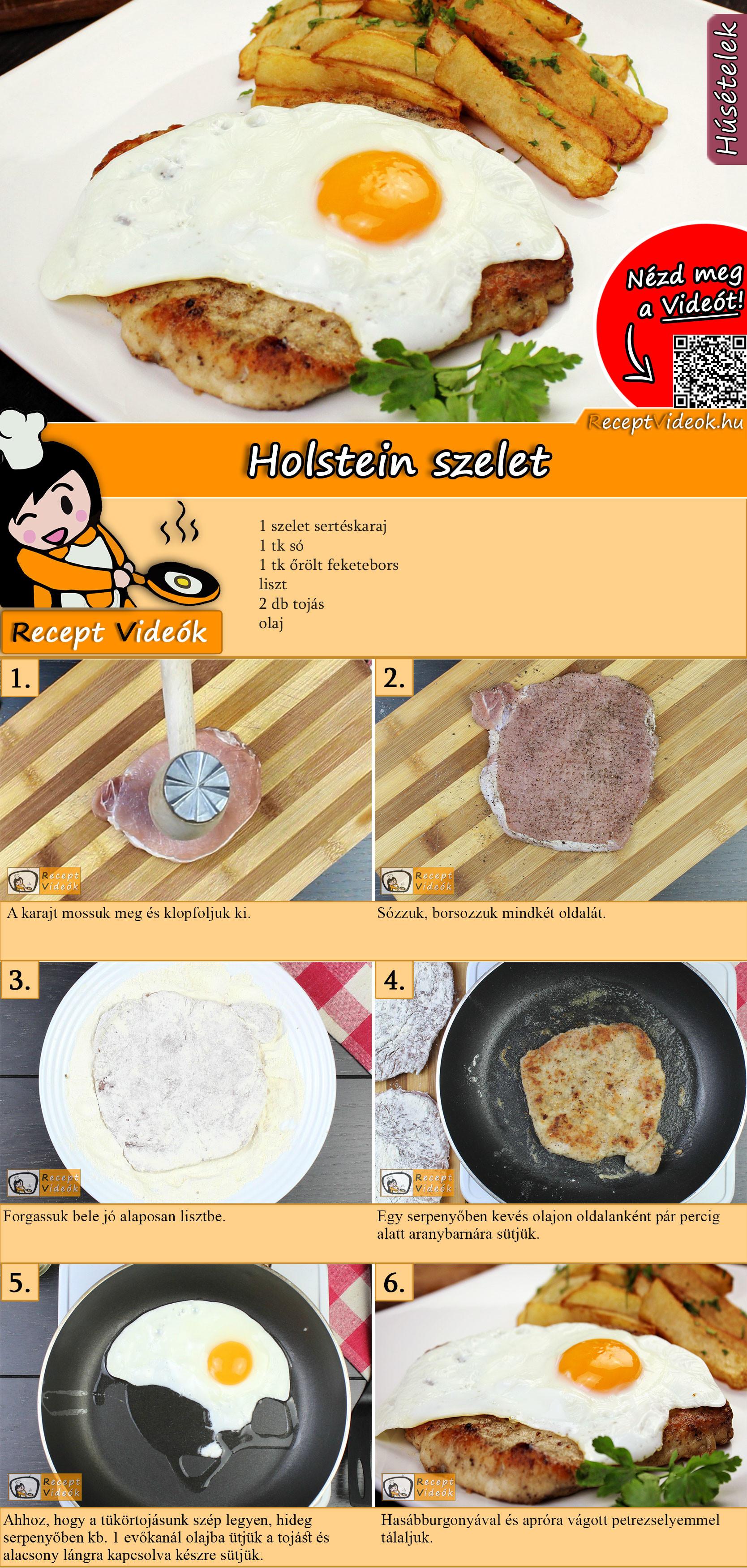 Holstein szelet recept elkészítése videóval
