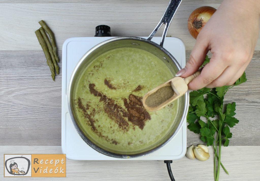 Spárgakrémleves recept, spárgakrémleves elkészítése 7. lépés