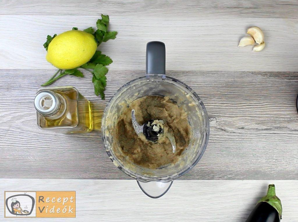 Padlizsánkrém recept, padlizsánkrém elkészítése 6. lépés