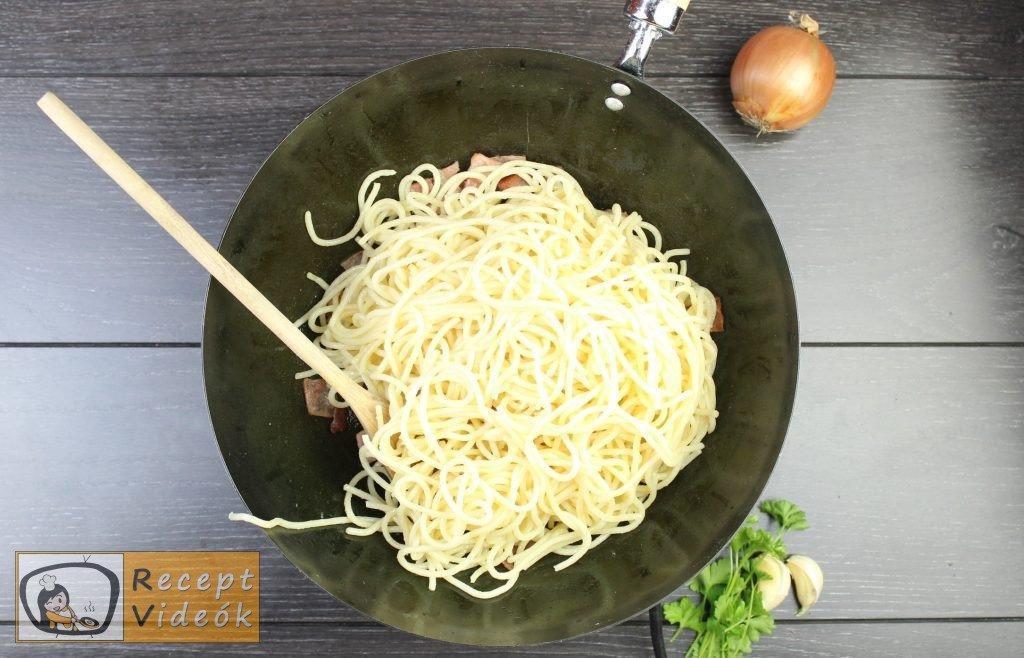 Carbonara spagetti recept, carbonara spagetti elkészítése 5. lépés