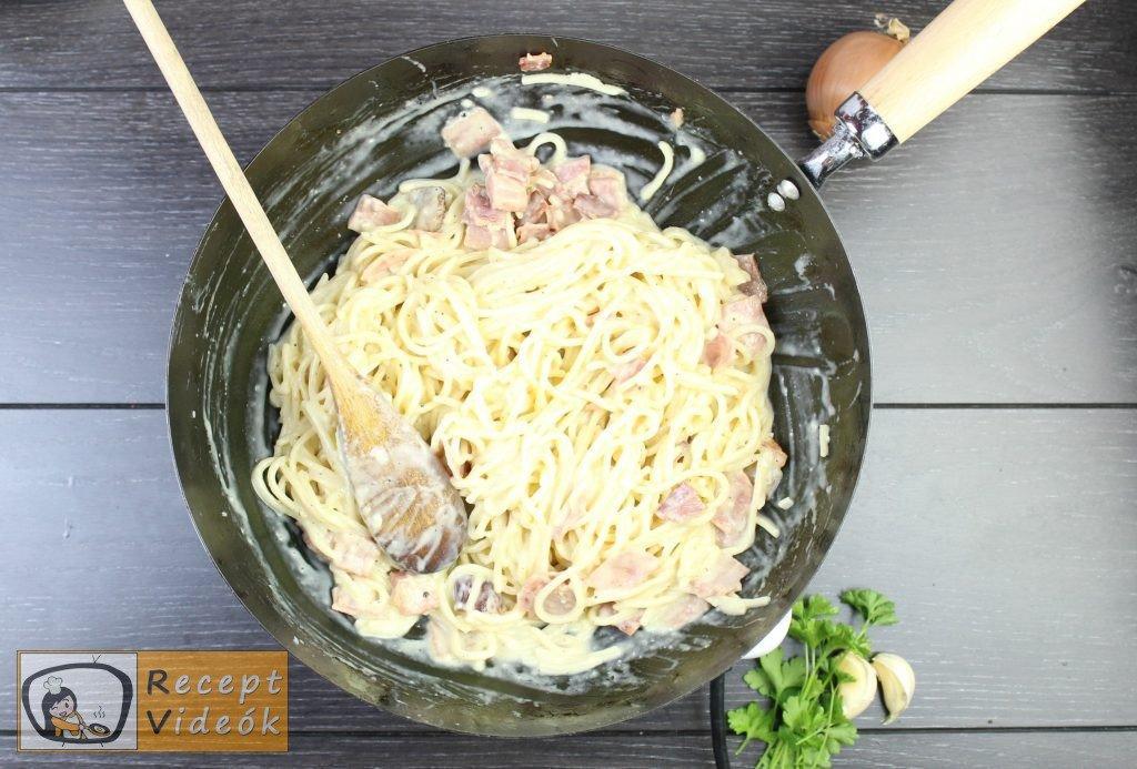 Carbonara spagetti recept, carbonara spagetti elkészítése 6. lépés