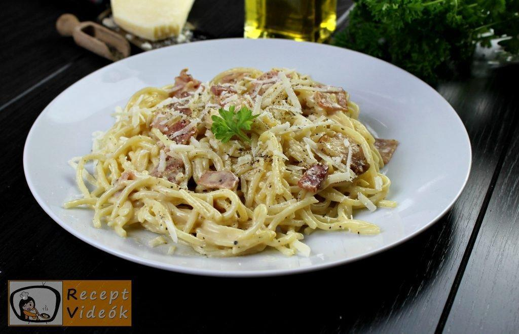 Carbonara spagetti recept, carbonara spagetti elkészítése - Recept Videók