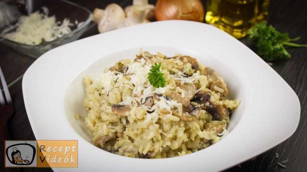 Pirított gombás rizottó recept elkészítése - Recept Videók