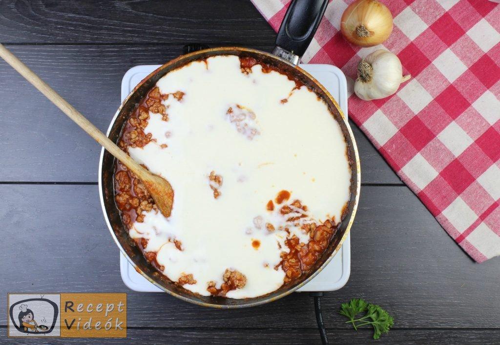 Lasagne recept, lasagne elkészítése 5. lépés