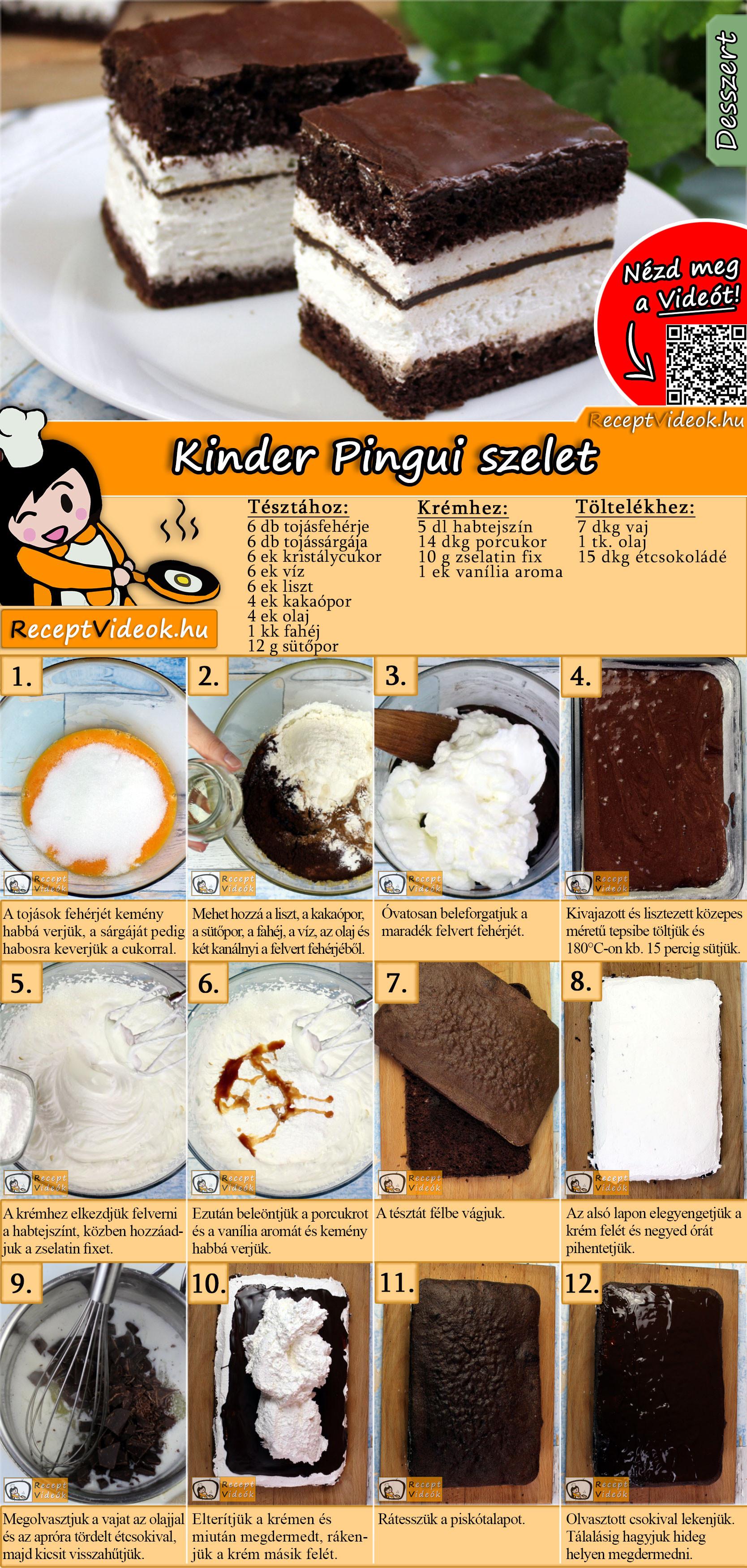 Kinder pingui kocka recept elkészítése videóval