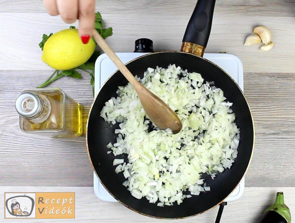 Padlizsánkrém recept, padlizsánkrém elkészítése 2. lépés