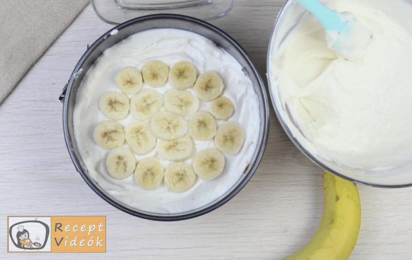 Banános joghurttorta recept elkészítése 5. lépés