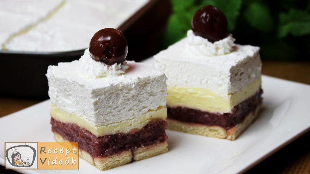 Meggyes szelet (sütés nélkül) recept elkészítése - Recept Videók