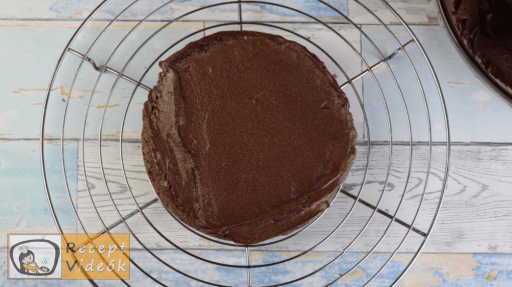 Csokoládétorta (csokitorta) recept elkészítése 9. lépés