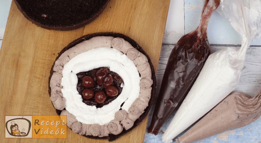 feketeerdő torta recept, feketeerdő torta elkészítése 11. lépés