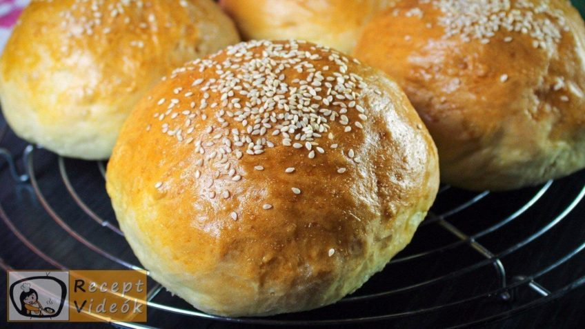 hamburger zsemle recept, hamburger zsemle elkészítése - Recept Videók