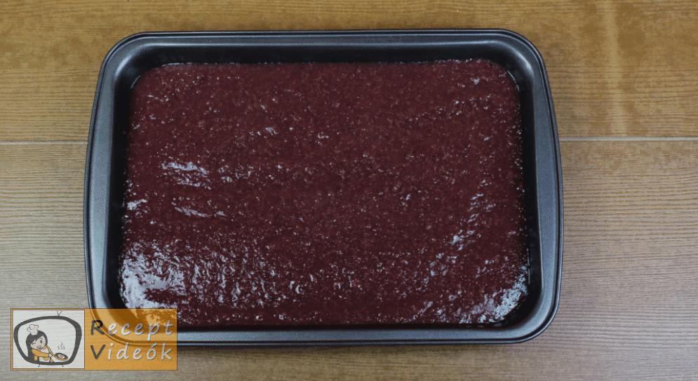 Meggyes szelet (sütés nélkül) recept elkészítése 5. lépés