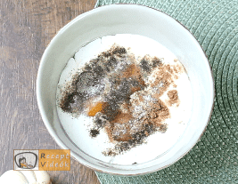 Sonkás tészta recept, sonkás tészta elkészítése 1. lépés