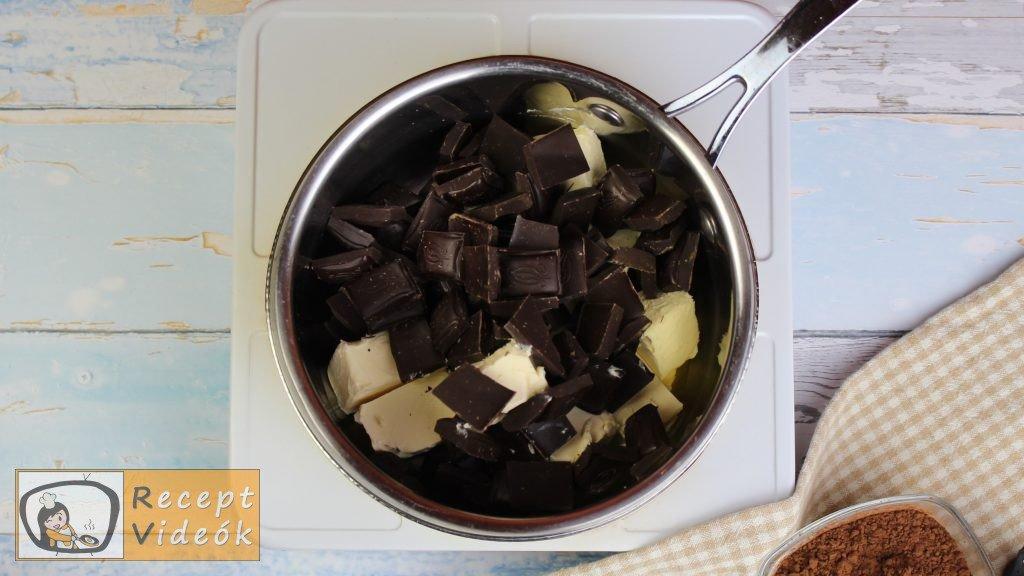 Brownie recept, brownie elkészítése 1. lépés