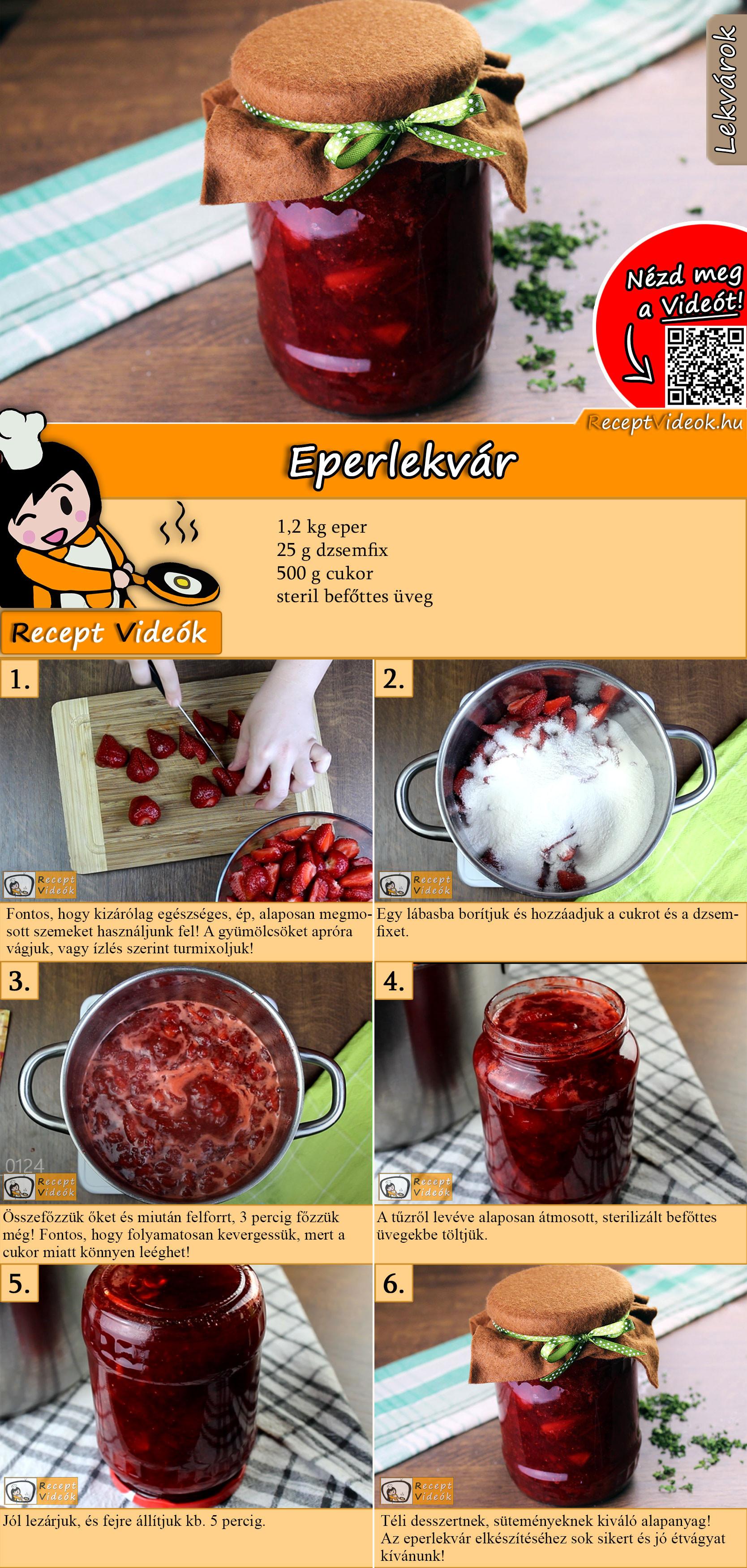 Eperlekvár recept elkészítése videóval