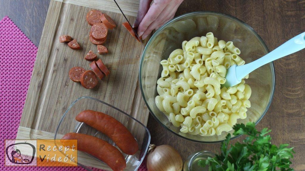 tésztasaláta recept, tésztasaláta elkészítése 1. lépés
