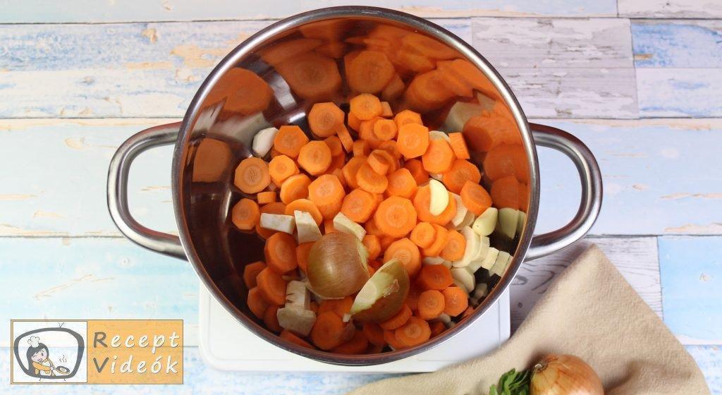 zöldségleves recept, zöldségleves elkészítése 1. lépés
