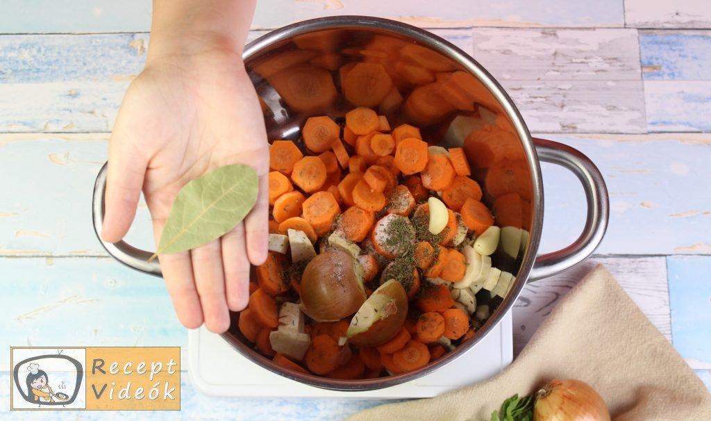 zöldségleves recept, zöldségleves elkészítése 2. lépés